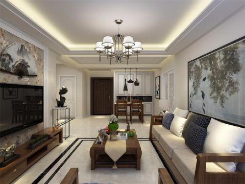 客厅吊顶新中式风格装修图片