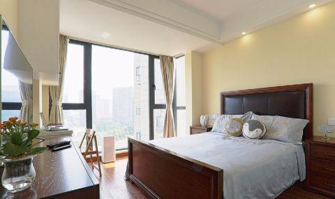 卧室落地窗美式风格装饰效果图