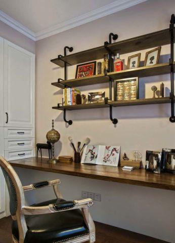 书房书桌混搭风格效果图