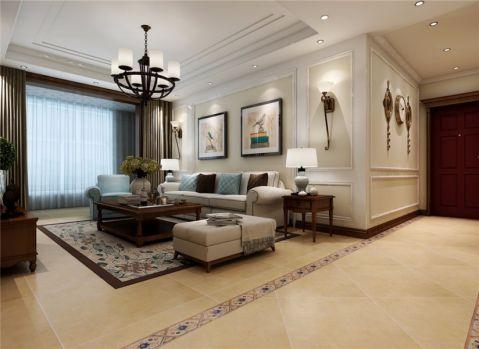 6万预算141平米三室两厅装修效果图