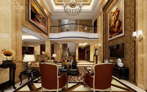 翡翠花园芳岛560平欧式别墅装修设计案例
