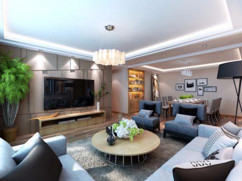 7.5万预算99平米三室两厅装修效果图