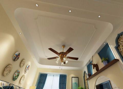 客厅吊顶地中海风格装潢图片