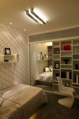 卧室博古架现代简约风格装饰效果图