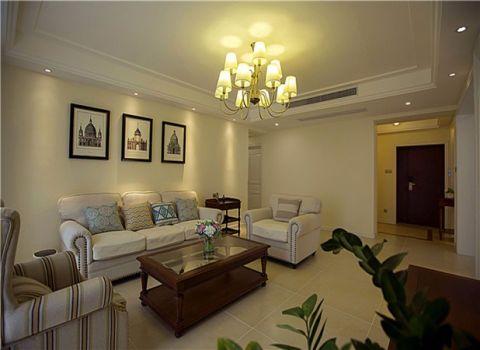 南湖花园100平美式风格三居室装修效果图
