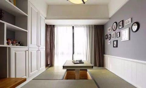 卧室榻榻米美式风格效果图