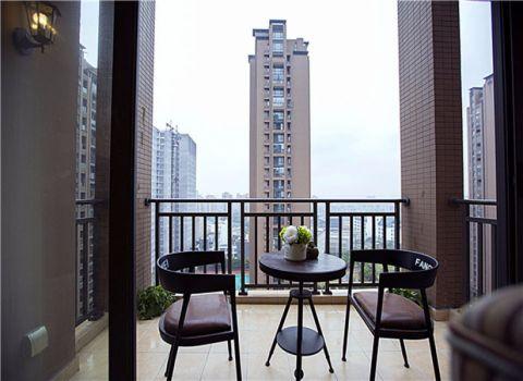 阳台窗台美式风格装潢效果图