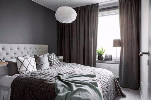 卧室背景墙北欧风格装饰图片