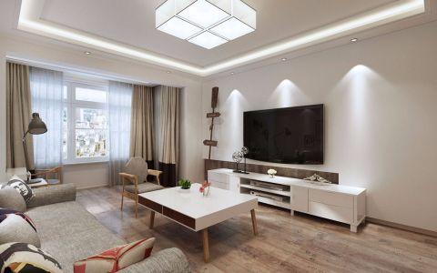 110平北欧风格三居室装修效果图案例