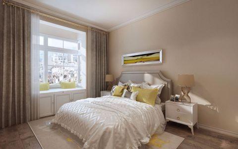 卧室窗帘北欧风格装饰效果图