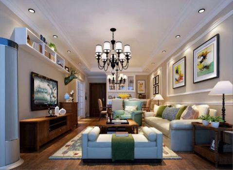 9.8万预算100平米三室两厅装修效果图