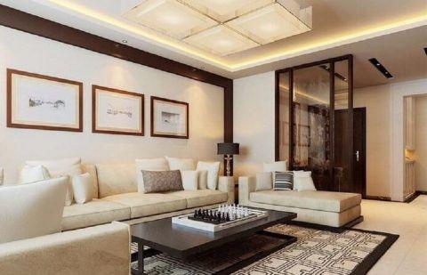 4.5万预算90平米两室两厅装修效果图