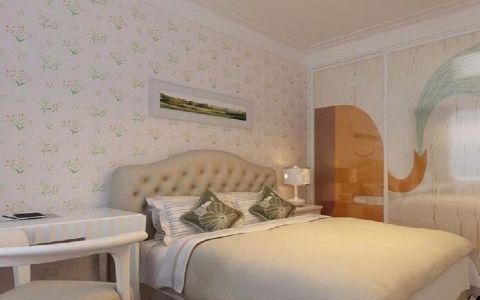 卧室背景墙简约风格效果图