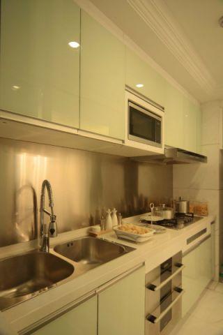 厨房背景墙简欧风格装潢图片