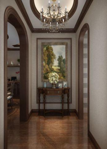 玄关门厅美式风格装饰图片