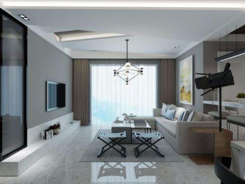金湾瑞园现代风格二居室效果图