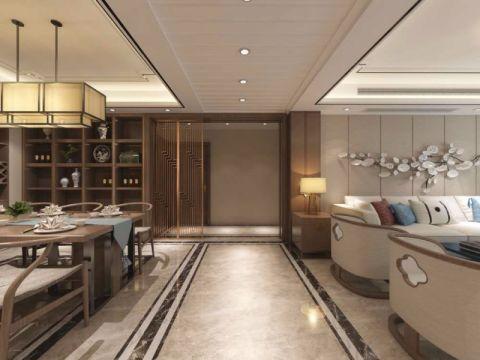 客厅走廊中式风格装潢效果图