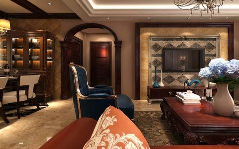 5.6万预算120平米三室两厅装修效果图