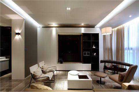 钢城水岸132平三室两厅现代简约效果图