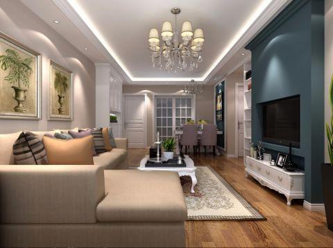 客厅吊顶现代欧式风格装饰图片