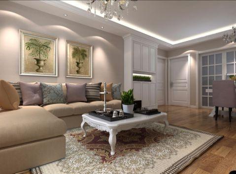 7.6万预算109平米三室两厅装修效果图