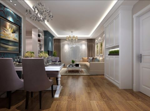 餐厅走廊现代欧式风格装潢设计图片