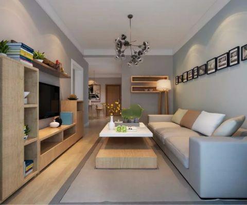 汇林阁80平现代宜家风格二居室装修效果图