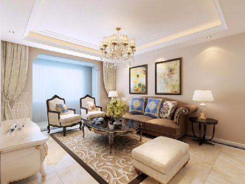 8.2万预算120平米三室两厅装修效果图