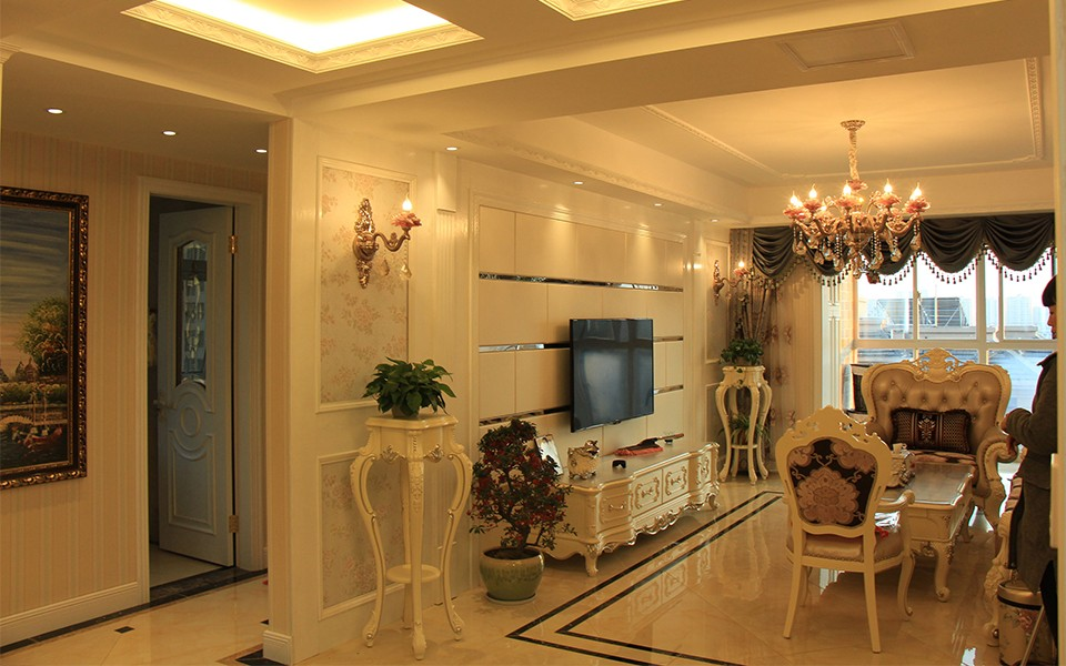 2室2卫1厅90平米欧式风格
