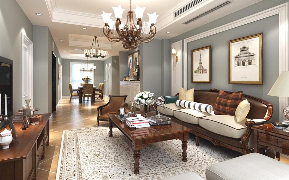 3室2卫2厅80平米美式风格
