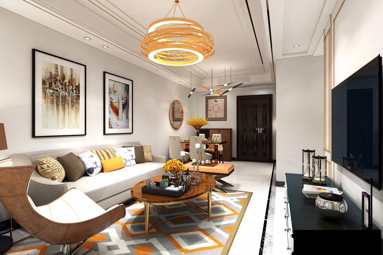 2室2卫1厅80平米现代简约风格