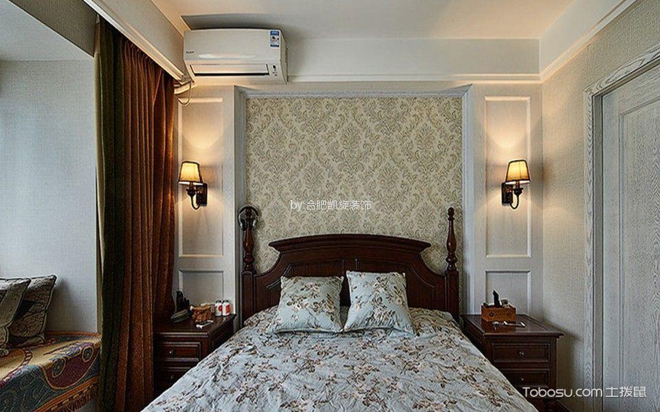 卧室咖啡色窗帘东南亚风格装修效果图