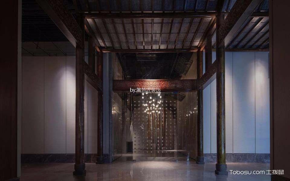1200平米餐厅走廊装饰实景图