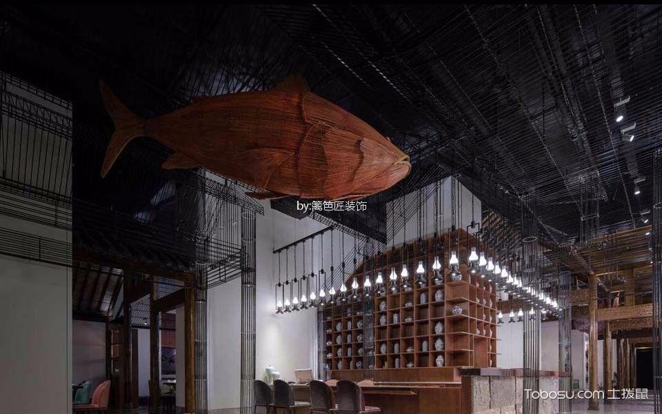 1200平米餐厅天花板装潢图片