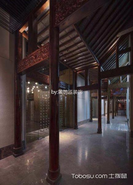 1200平米餐厅走廊设计效果图