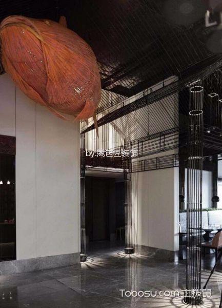 1200平米餐厅吊顶装饰实景图片