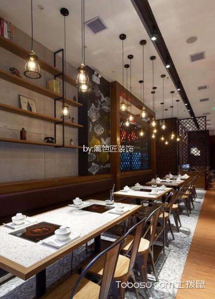 276平米湘菜餐厅餐桌装修图片