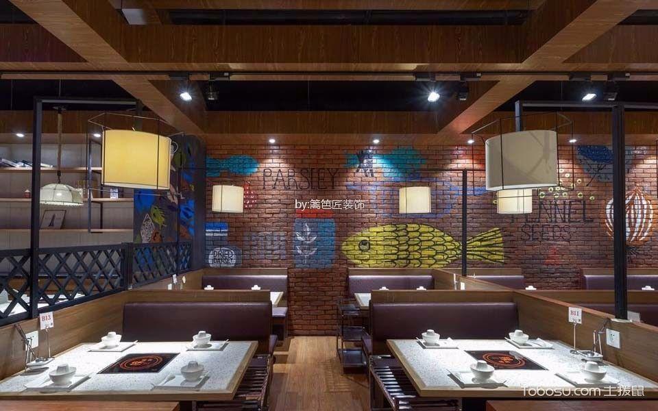 276平米湘菜餐厅餐桌设计效果图