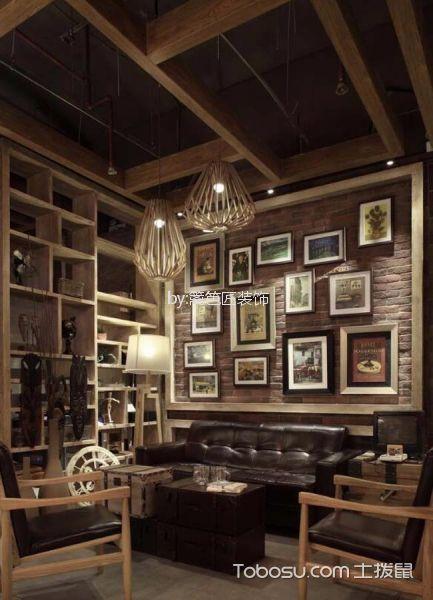 218平米咖啡厅背景墙装潢图