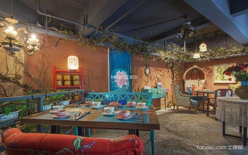60平米食品店餐厅装饰实景图