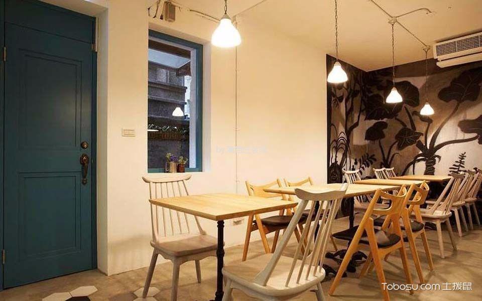 77平米甜点店餐桌装饰图