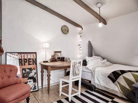 卧室吊顶北欧风格装饰设计图片