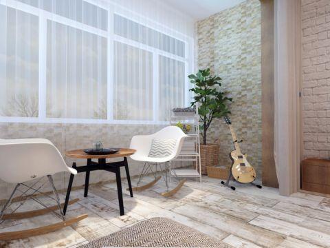 阳台窗帘北欧风格装修图片