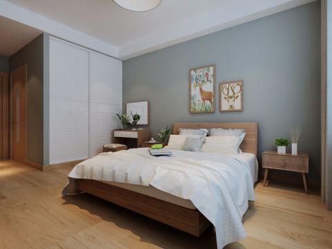 卧室背景墙日式风格装饰图片