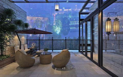 阳台推拉门美式风格装修设计图片