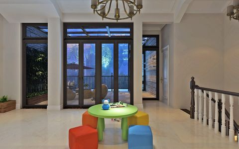 阳台门厅美式风格装潢设计图片