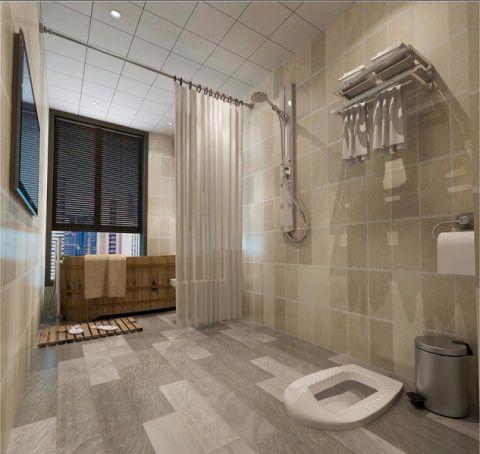 卫生间隔断新中式风格装饰图片