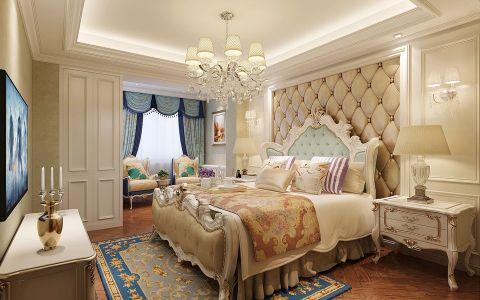 卧室背景墙欧式风格装饰设计图片