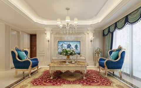 客厅茶几欧式风格效果图