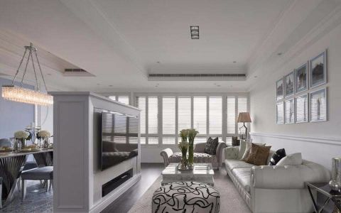 130平三居室新古典风格装修效果图